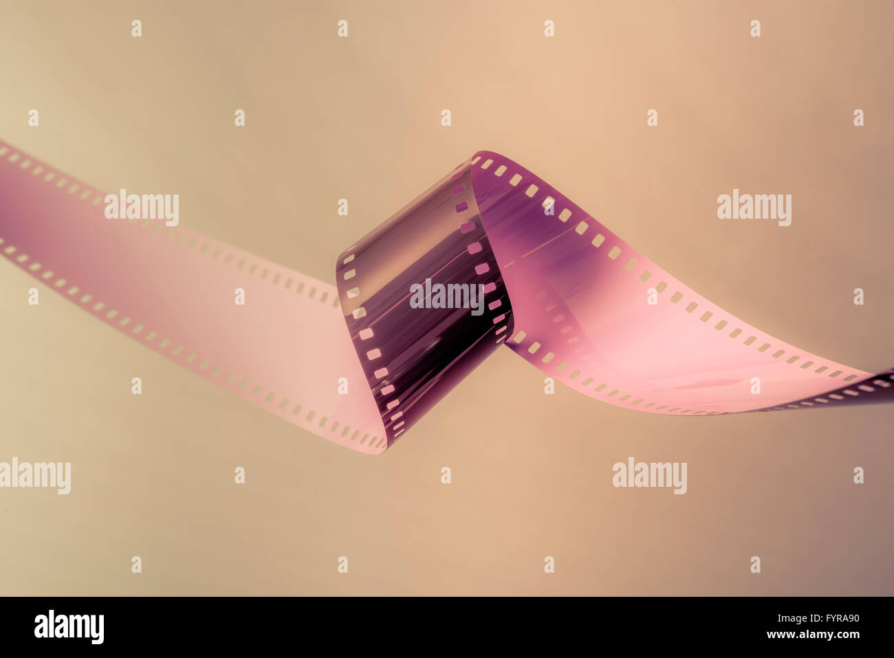 35mm film strip as used in film and photography industries Stock Photo