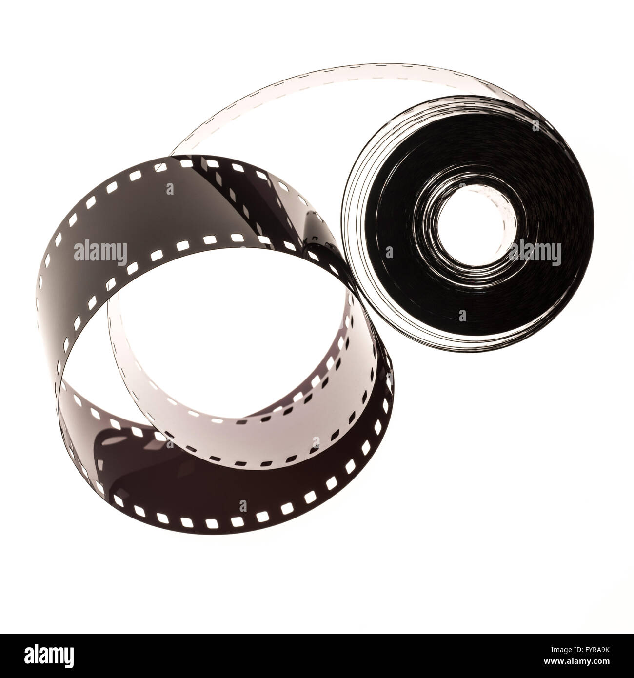 35mm film strip as used in film and photography industries - Stock Image