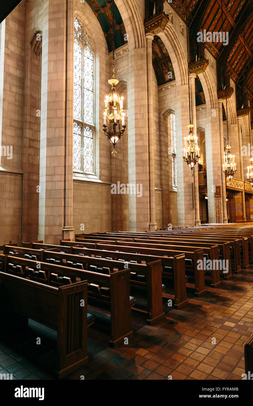 The interior of the Fourth Presbyterian Church is a famous piece of ...