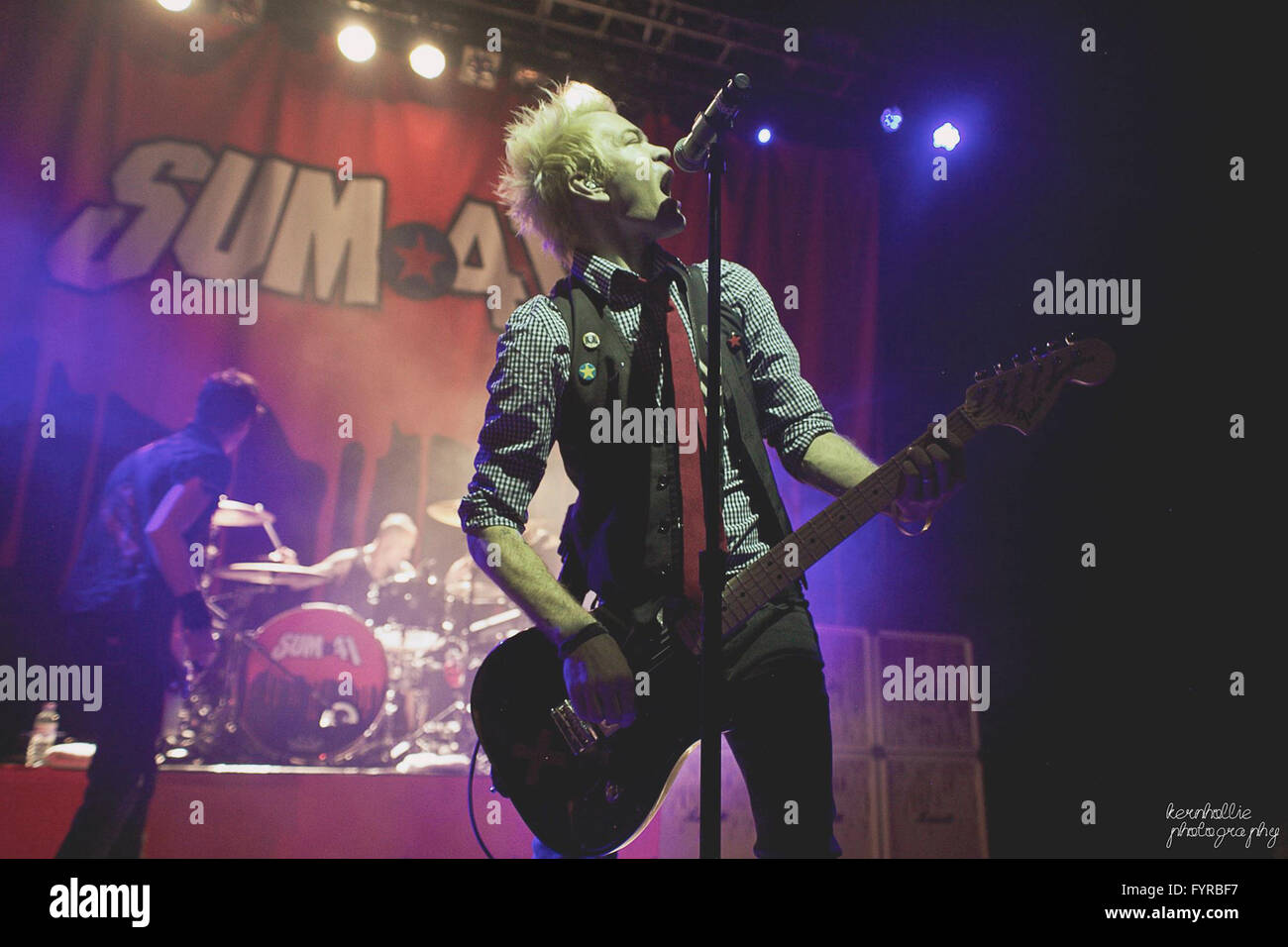 for this news day, the Kerrang! Tour was in Cardiff with Sum 41 and other bands, I got a press pass so I went and - Stock Image