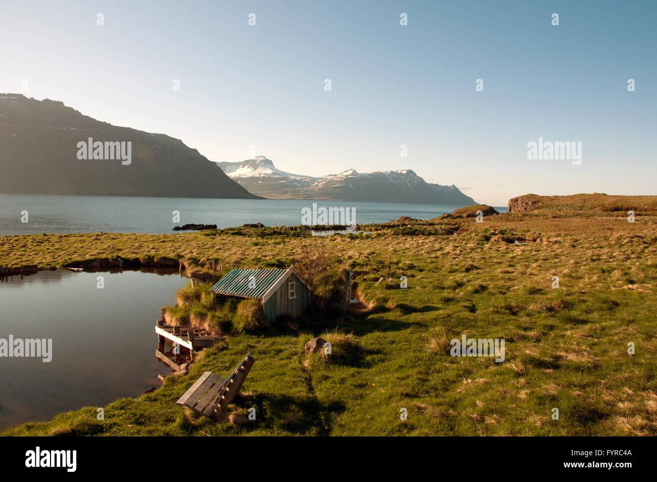Skalanes Seydisfjordur Iceland - Stock Image