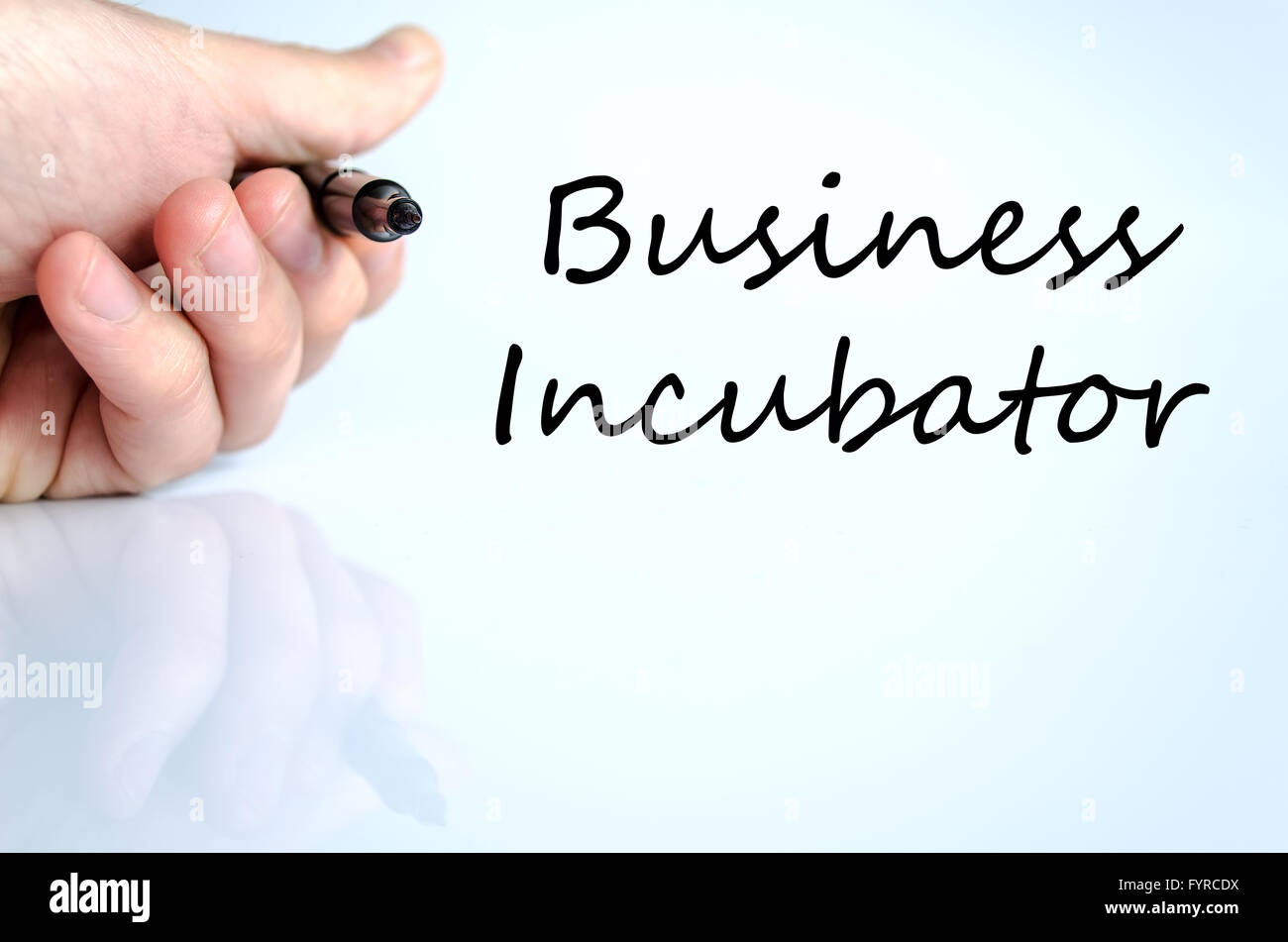 Business incubator text concept - Stock Image