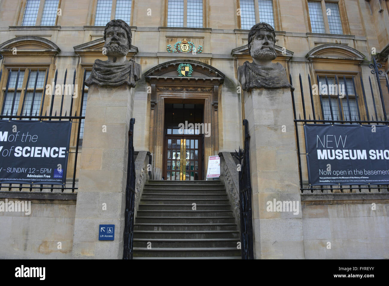 The Museum of the History of Science in Broad Street, Oxford, England, - Stock Image