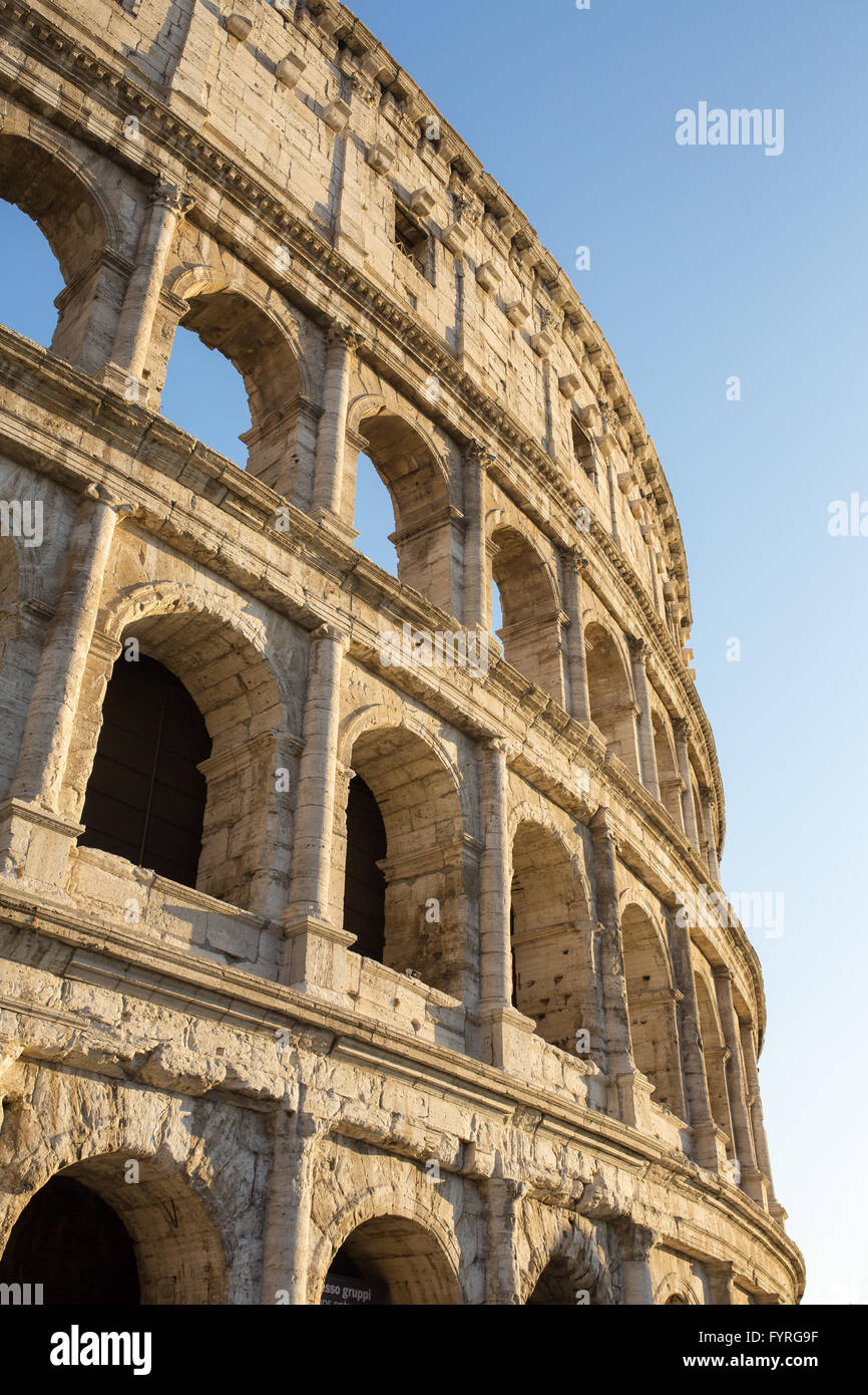 Colosseum with the beautiful sunset light, Rome, Italy. - Stock Image