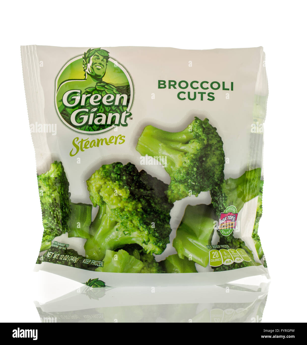 Winneconne, WI - 13 March 2016: A bag of Green Giant broccoli cuts - Stock Image