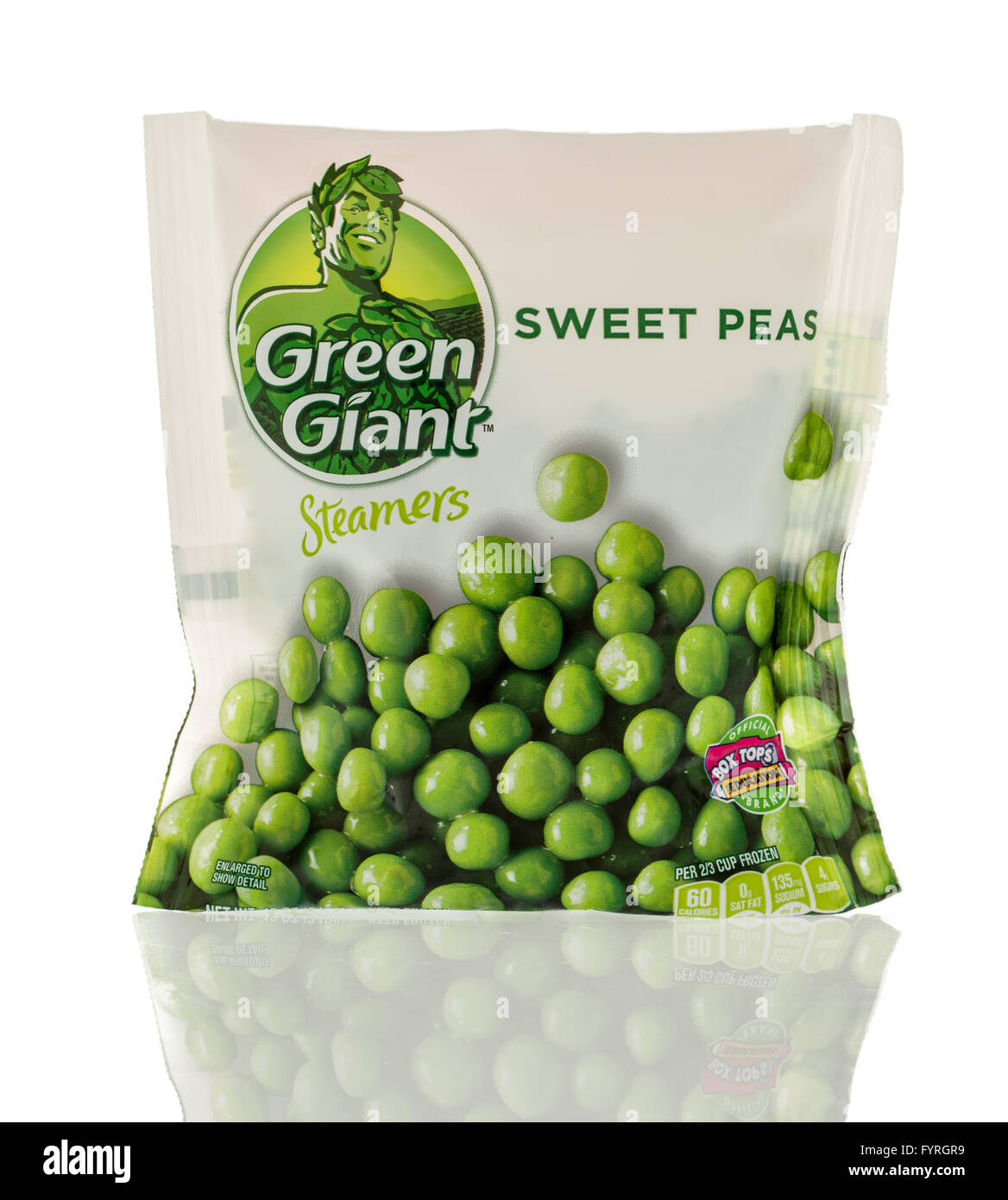 Winneconne, WI - 13 March 2016: A bag of Green Giant sweet peas - Stock Image
