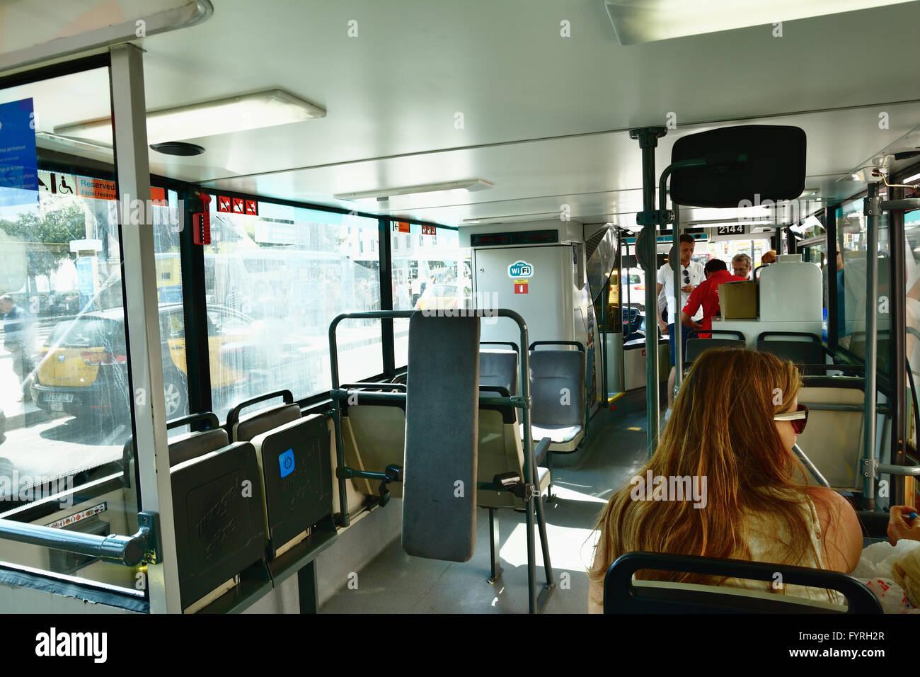 Urban bus. Barcelona, Catalonia, Spain, Europe - Stock Image