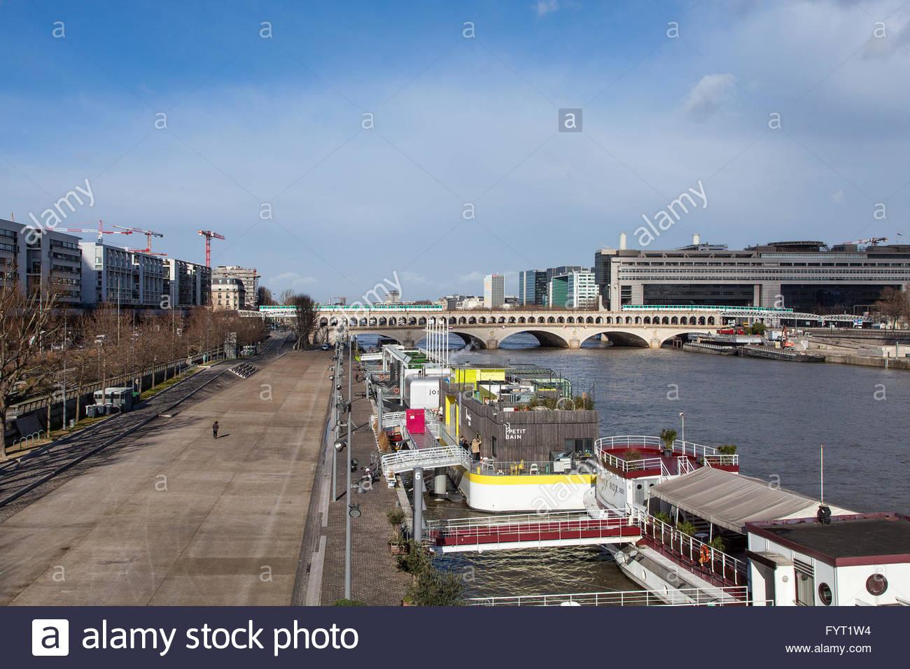 Finances ministry, Bercy dock Paris, France, 2016 - Stock Image