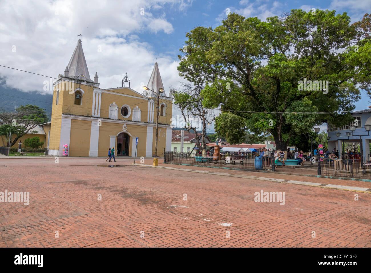 The Cathedral San Juan Bautista In The Centre Of Trujillo, Honduras Stock Photo