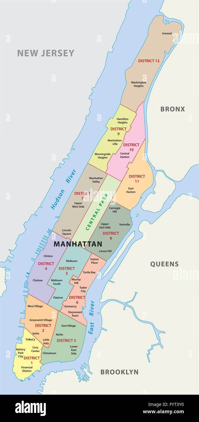 Manhattan Island Map Manhattan Island Map Stock Photos & Manhattan Island Map Stock