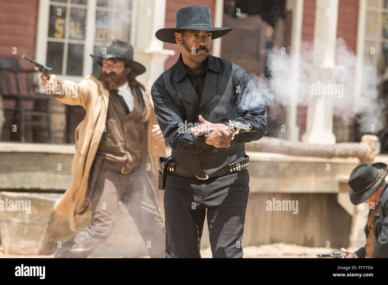The Magnificent Seven is an upcoming American western action film directed by Antoine Fuqua, a remake of the 1960 - Stock Image