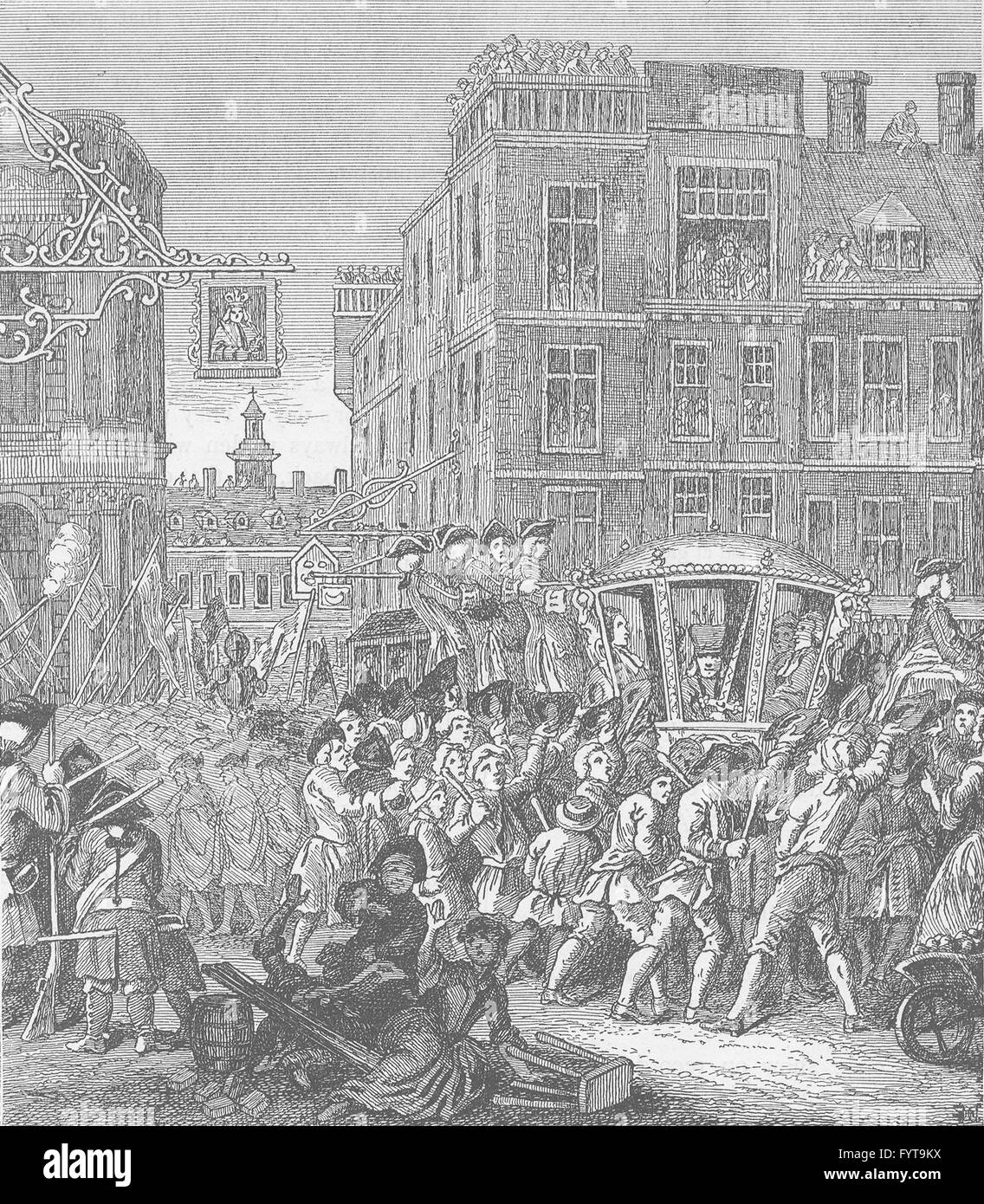 CHEAPSIDE: The Lord Mayor's procession (Hogarth's Industrious Apprentice), c1880 - Stock Image