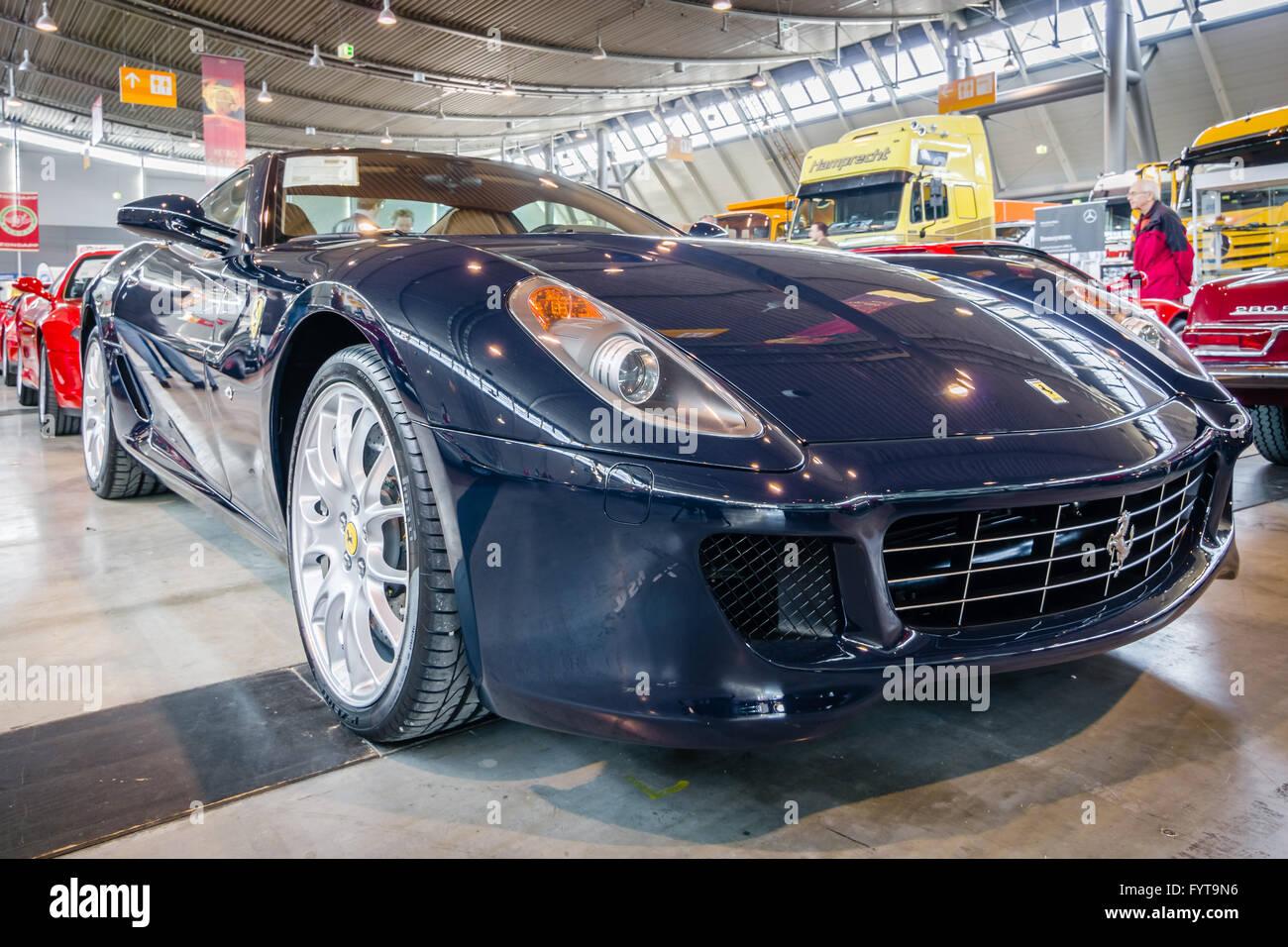 Sports Car Ferrari 599 GTB Fiorano F1, 2008.   Stock Image