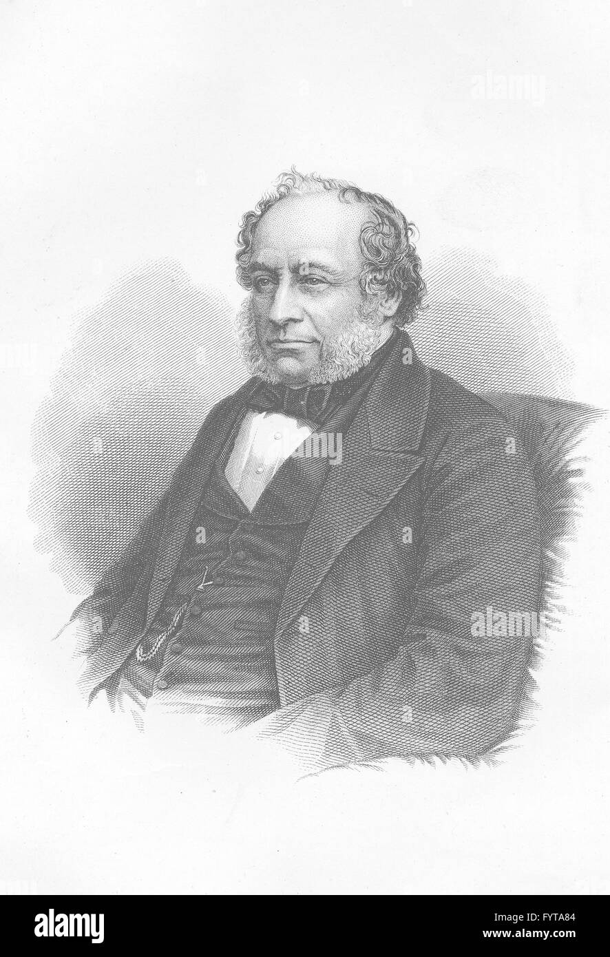 LONDON ARCHITECTS: Sir Charles Barry, antique print c1880 - Stock Image