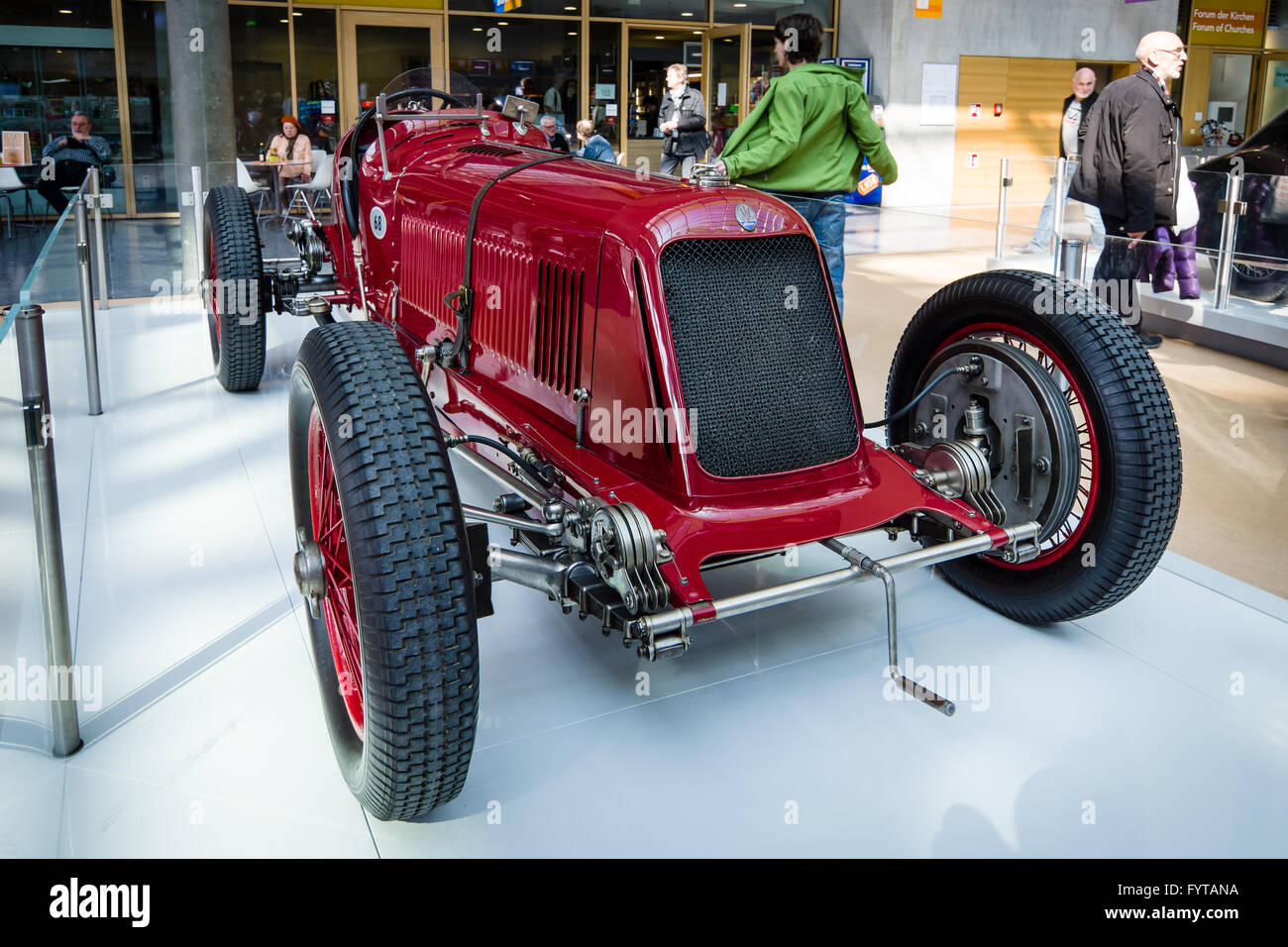 Race car Maserati 8CM Monoposto Grand Prix, 1933. - Stock Image