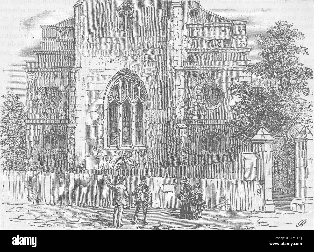 WREN CHURCHES The West End Of StAndrew Holborn With Gothic Arch
