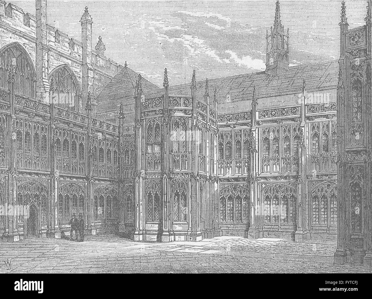 Other Architectural Antiques Proposed Restoration Of Exterior Of Westminster Hall 1884 Antique Print