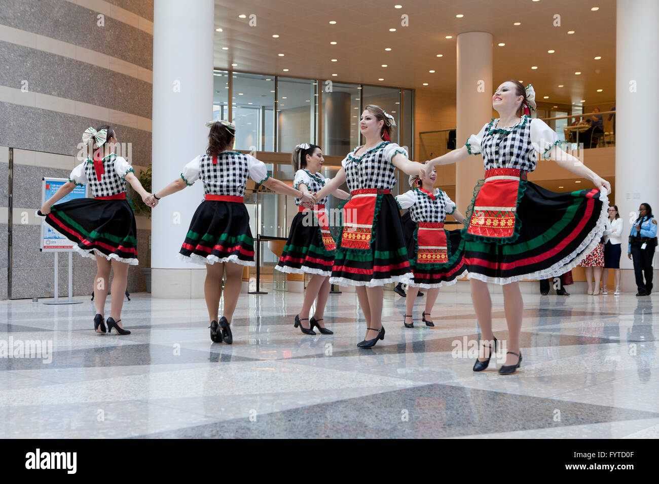 European traditional folk dancers - USA - Stock Image