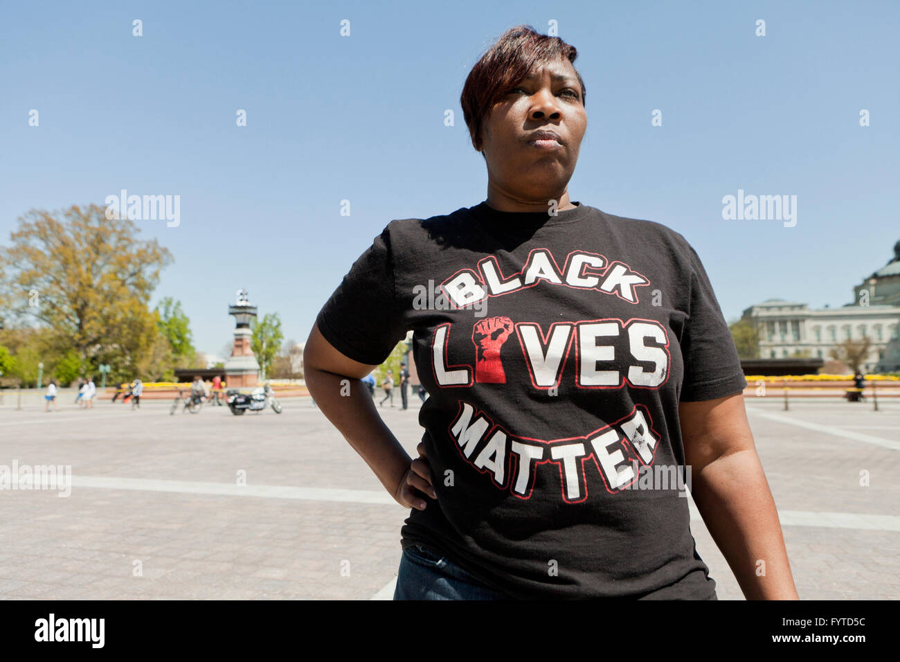 Female Black Lives Matter activist - USA - Stock Image