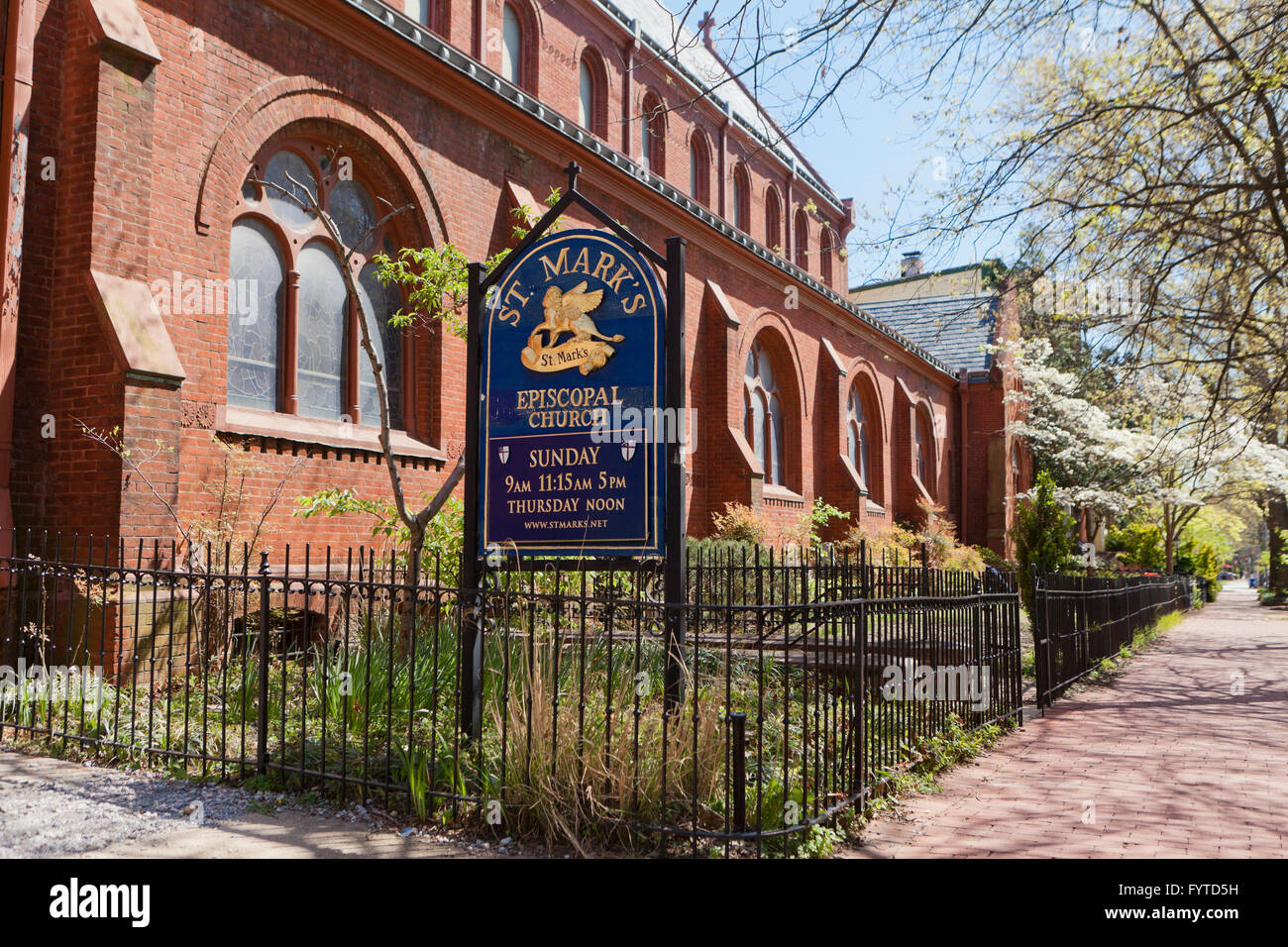 St. Mark's Episcopal Church - Washington, DC USA - Stock Image
