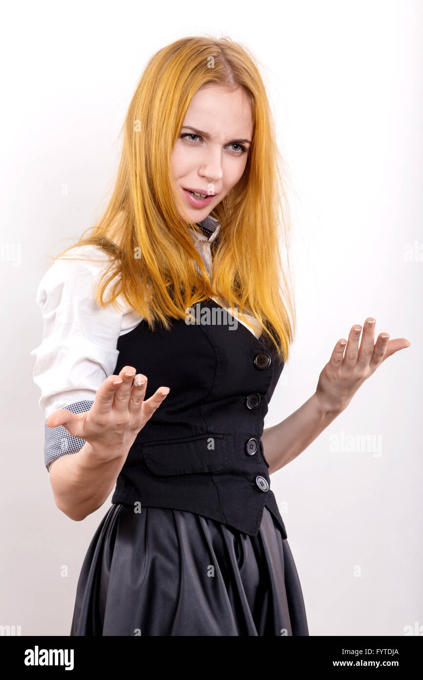 fun girl - Stock Image