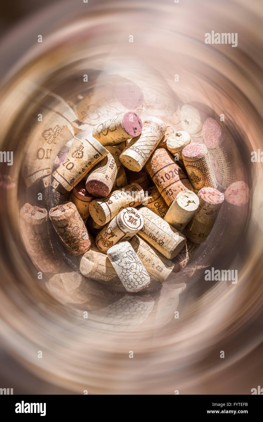 Corks and spiral - Stock Image