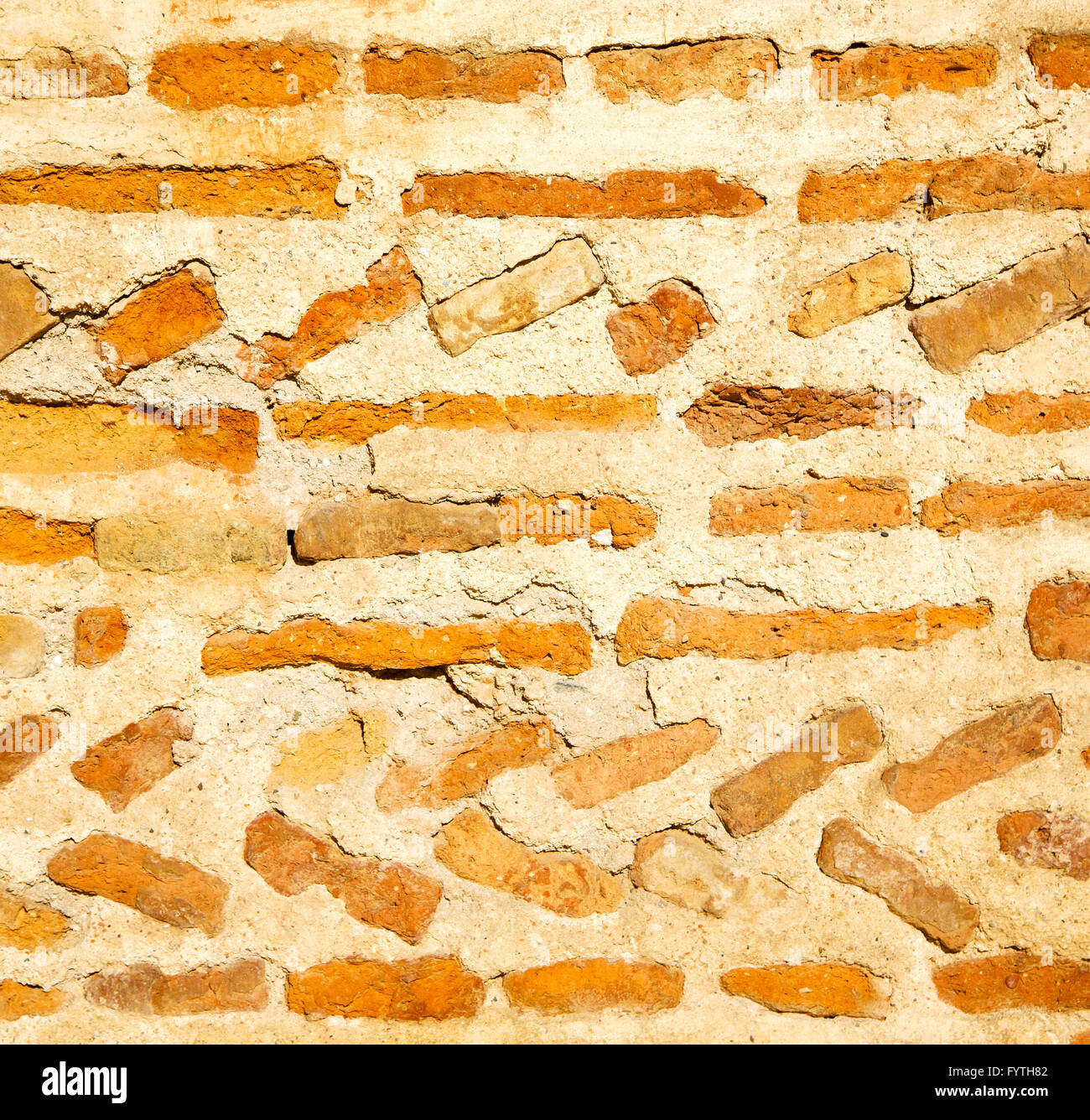 texture wall in africa morocco the old brick construction concrete ...