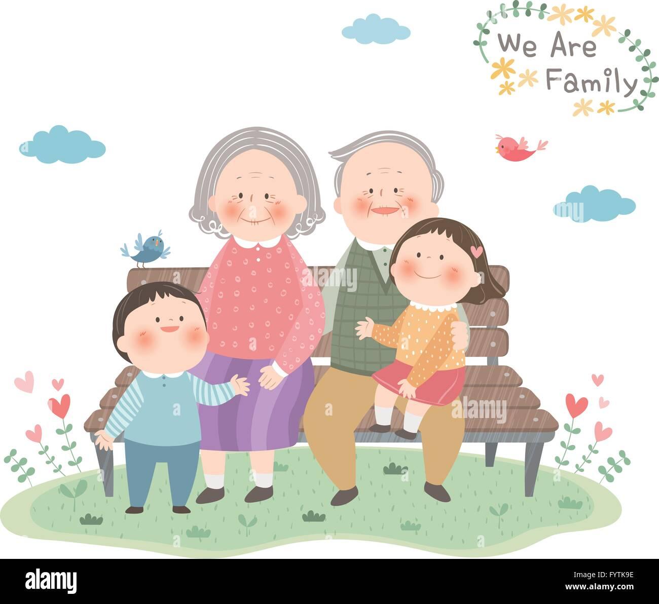 Family members 009 - Stock Image