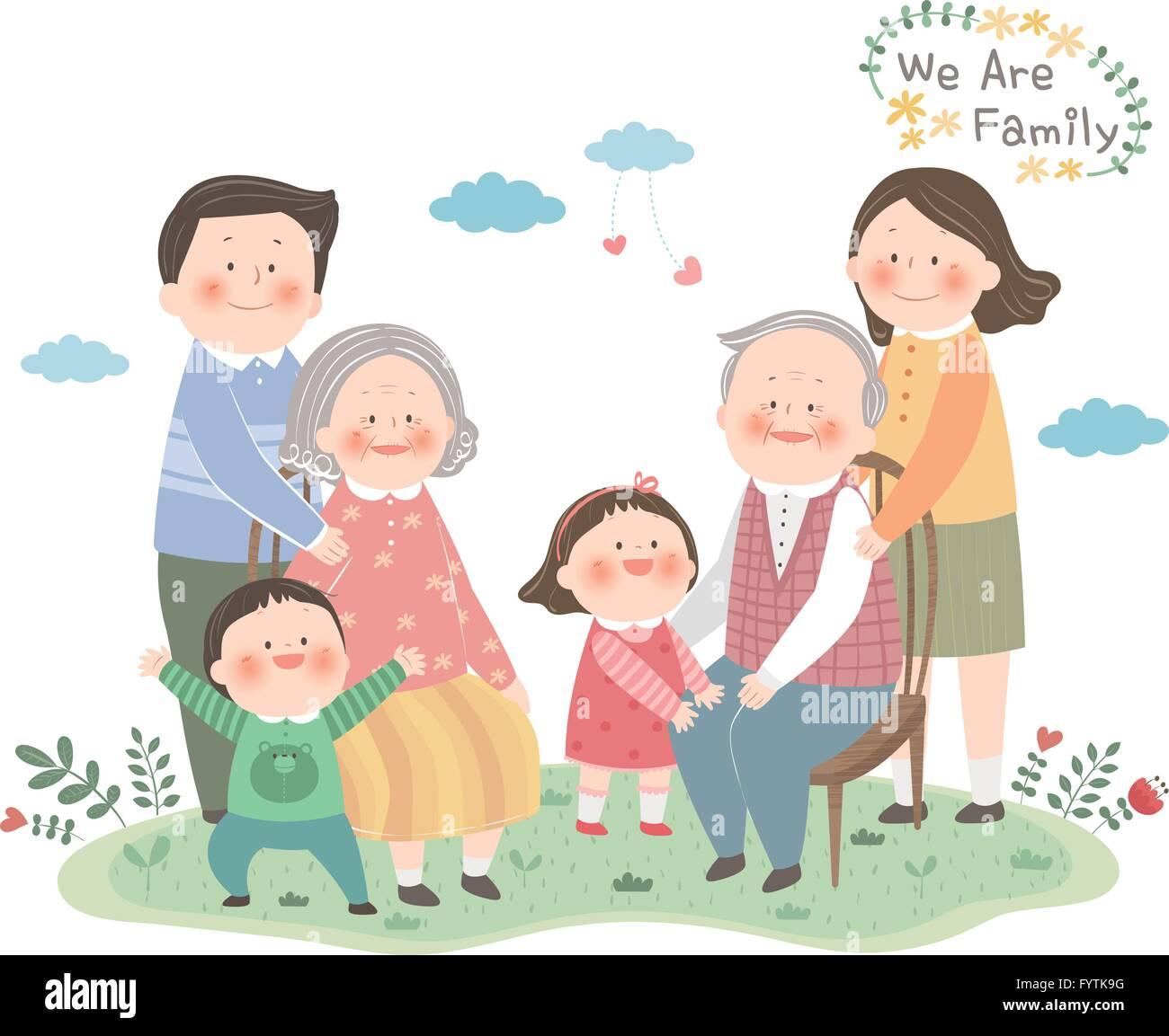 Family members 010 - Stock Image