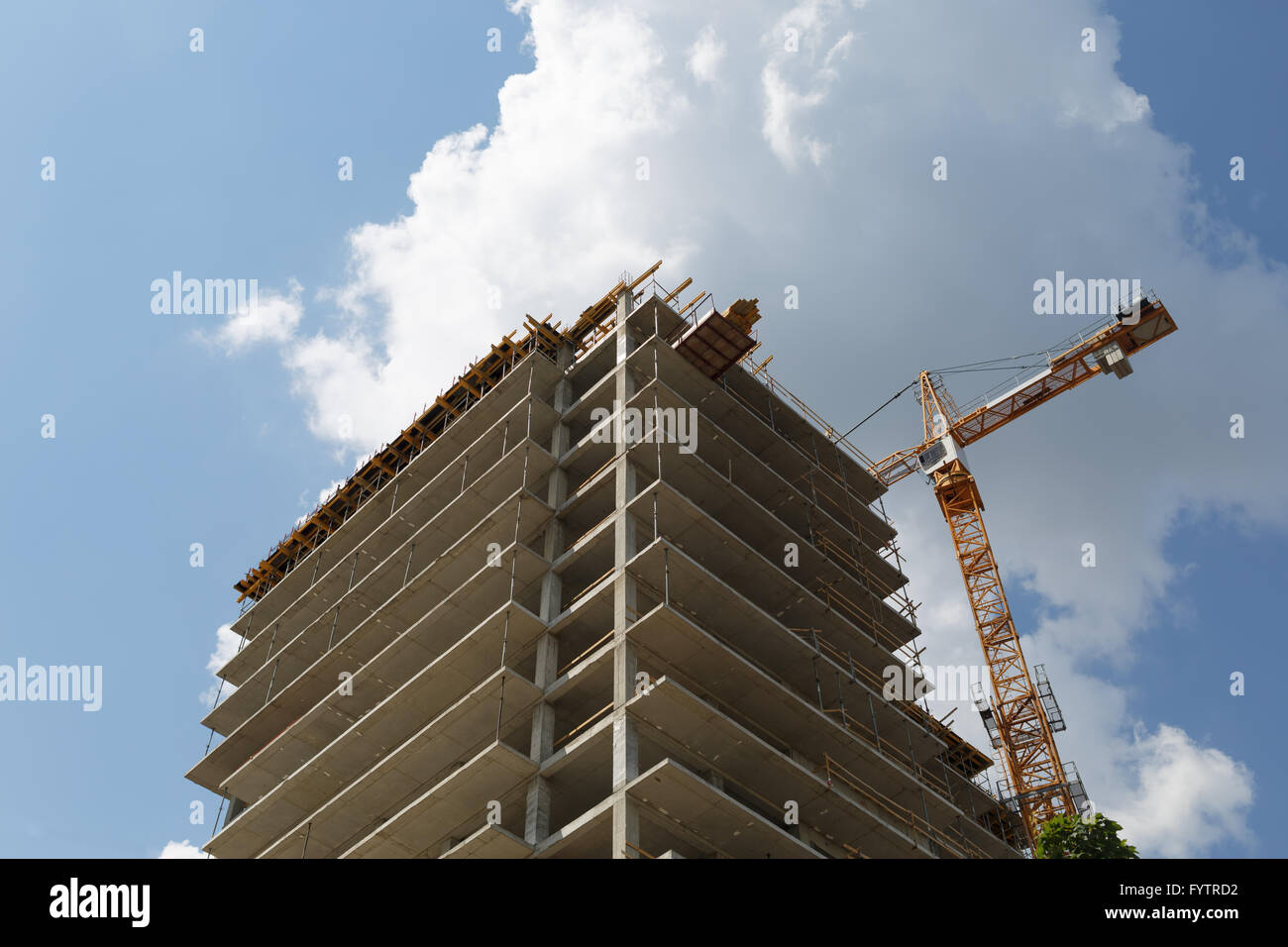 Building of multistory House - Stock Image