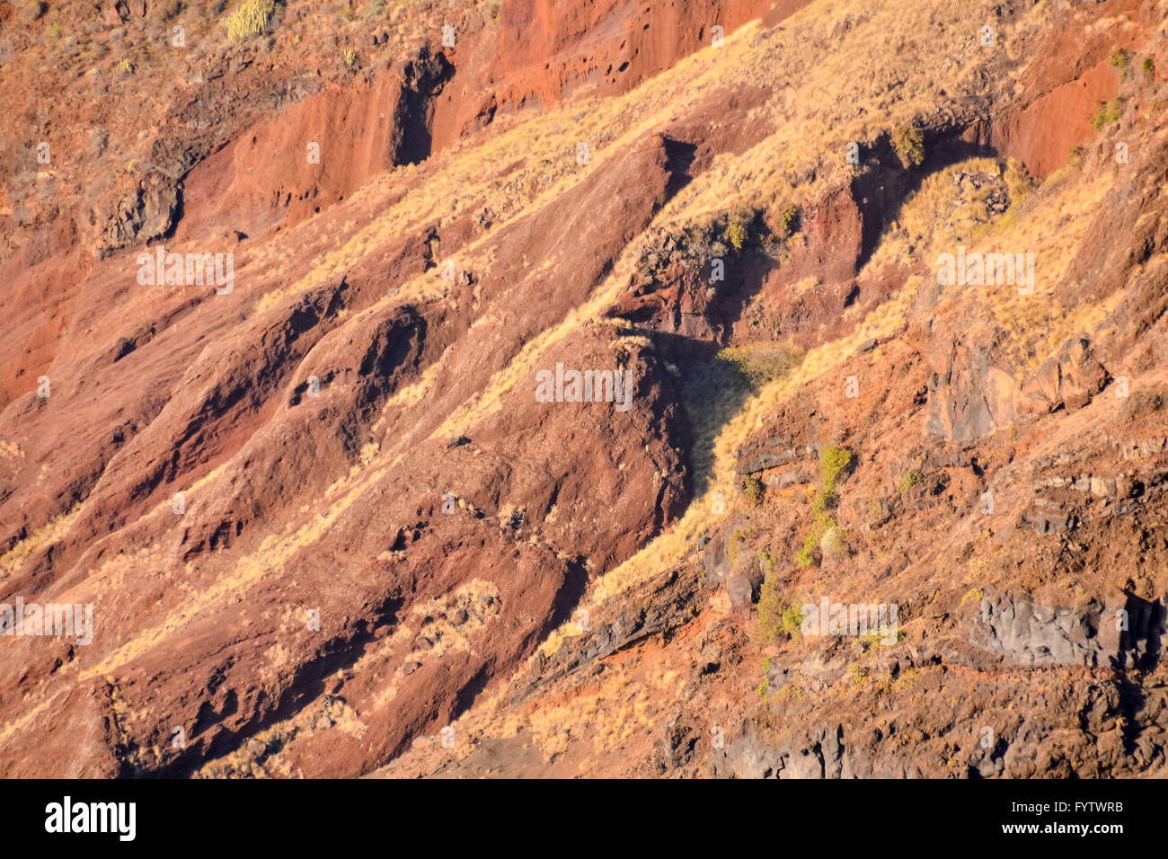 Basaltic Rock Texture - Stock Image