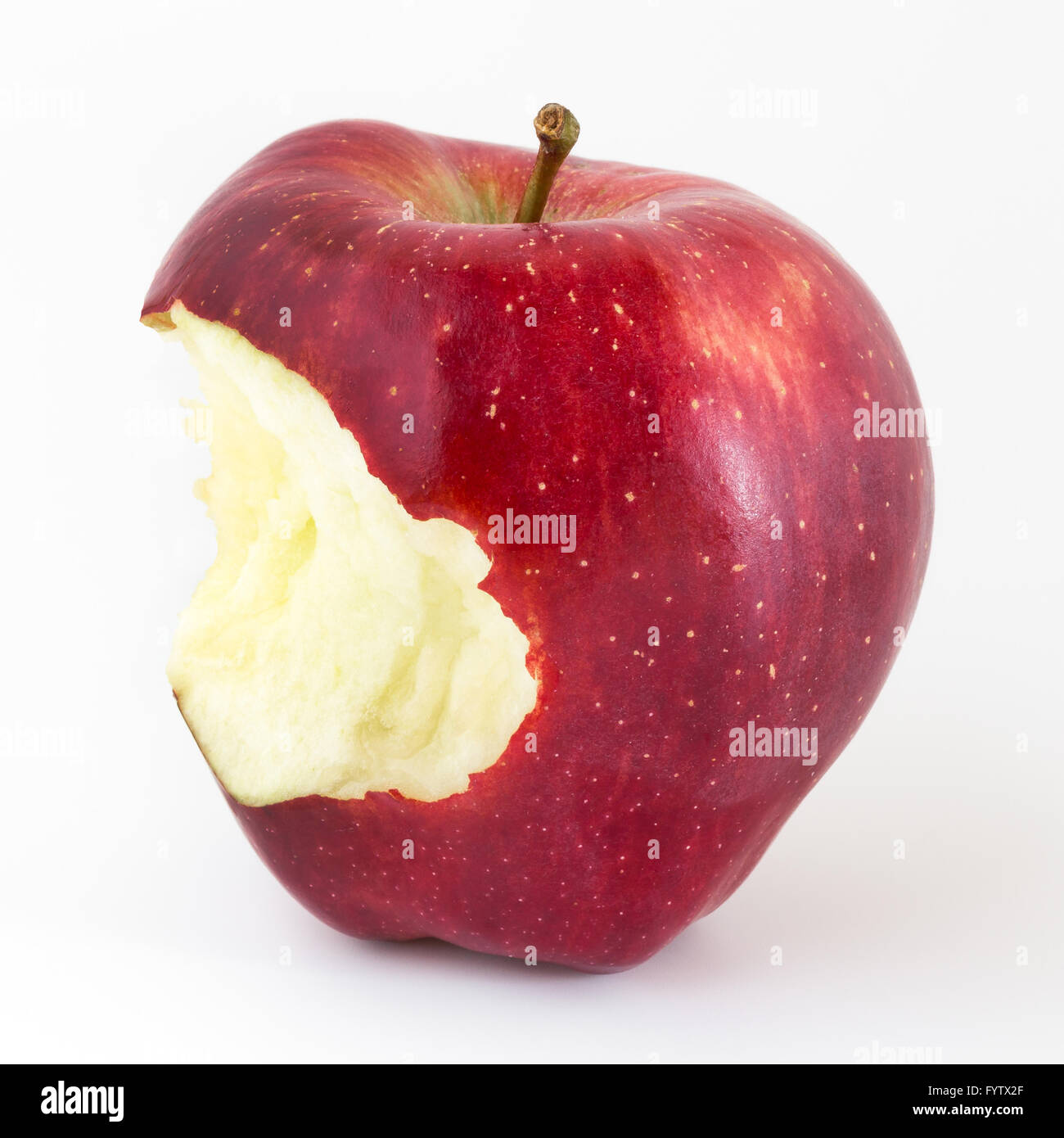 Bitten apple - Stock Image