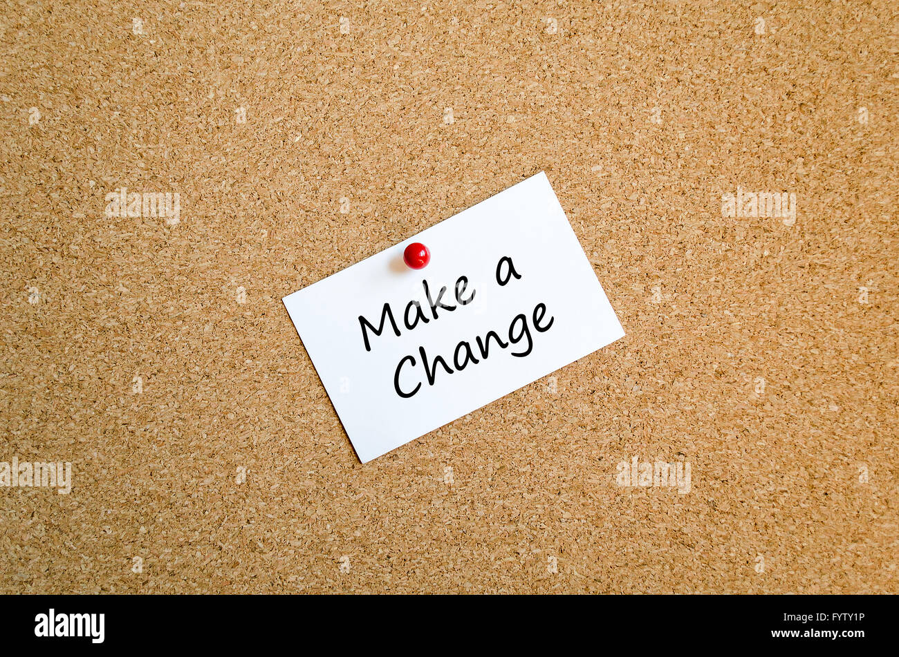 Sticky Note concept make a change - Stock Image