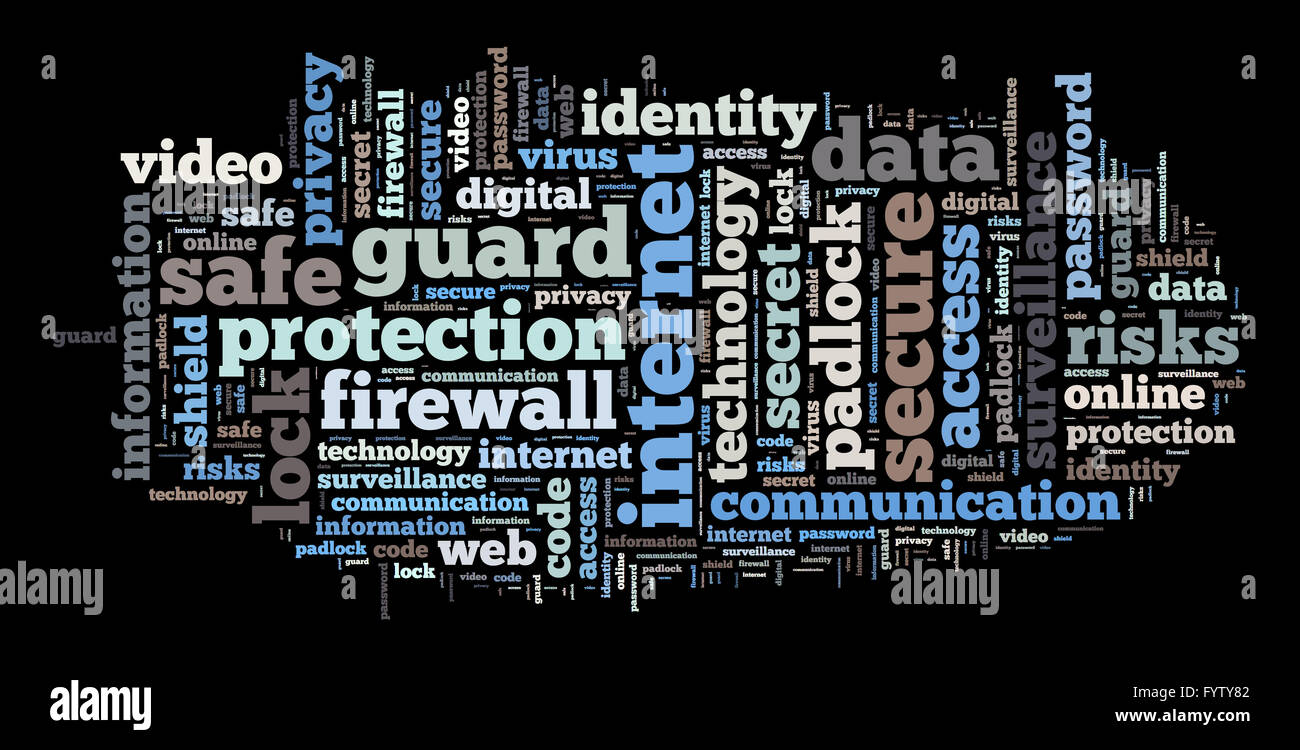 Security word cloud  illustration concept - Stock Image