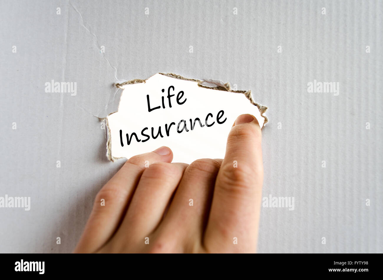 Life insurance text concept - Stock Image