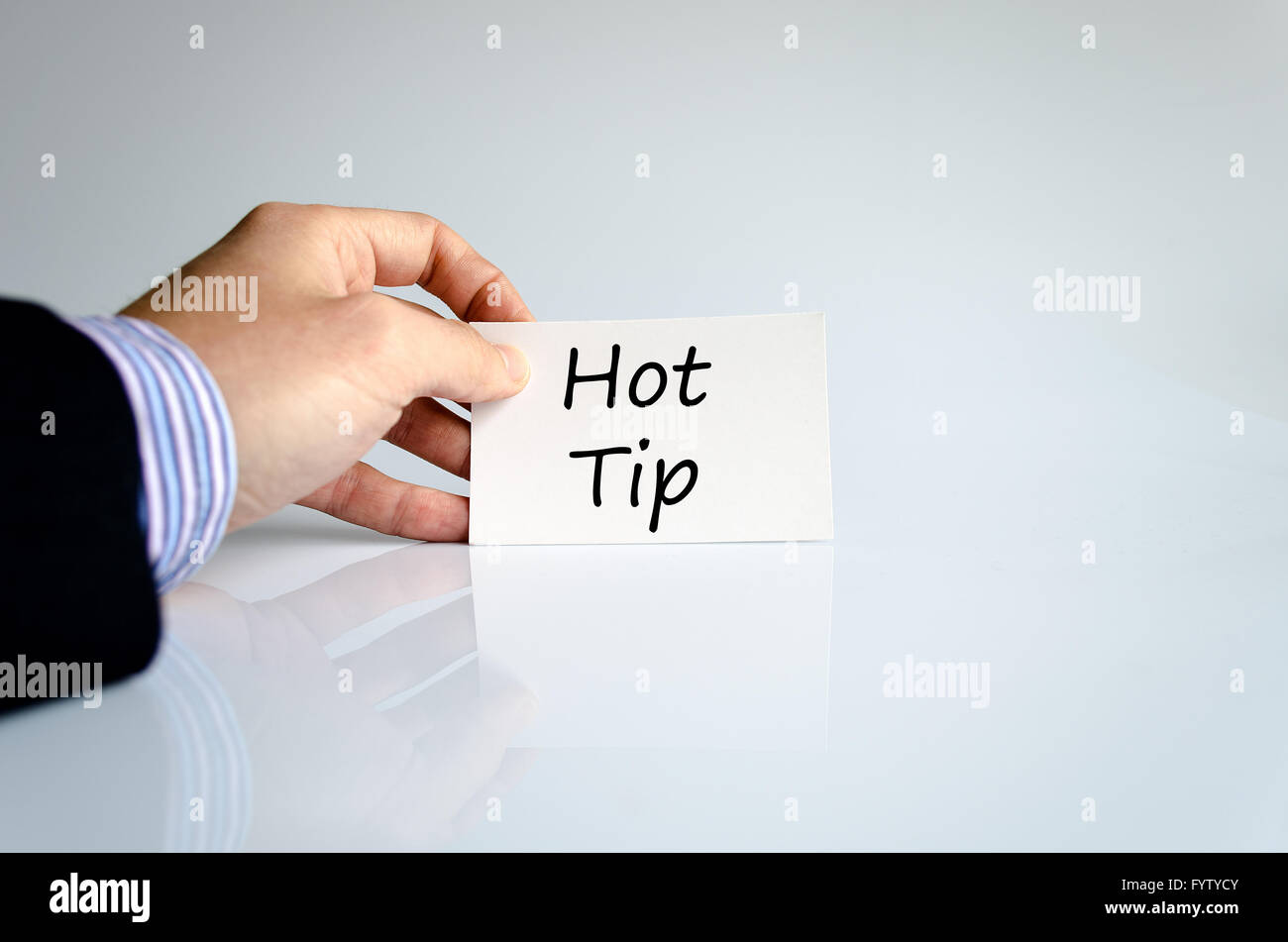 Hot tip text concept - Stock Image