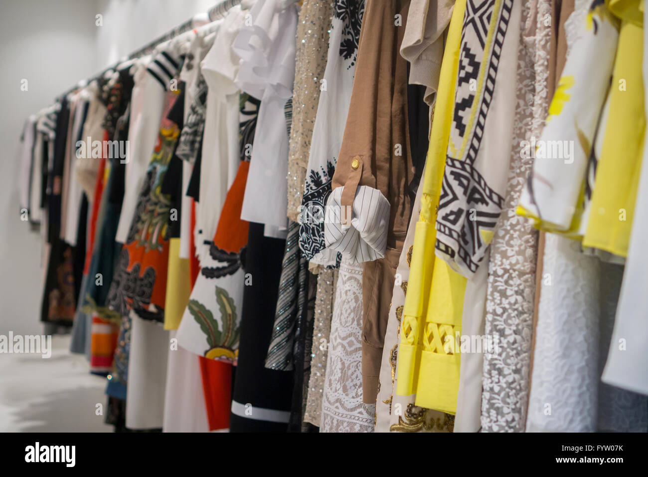b689765e0f34 Designer clothing on sale in a store on Madison Avenue in New York on  Thursday