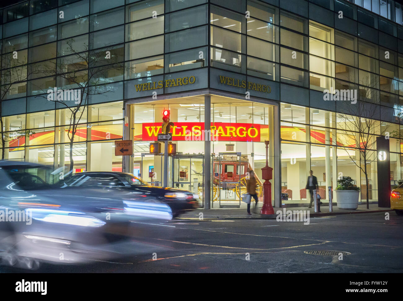 A branch of Wells Fargo Bank in New York on Thursday, April 21, 2016. (© Richard B. Levine) - Stock Image
