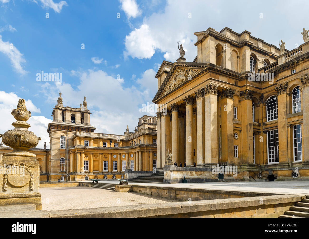 Blenheim Palace, seat of the Dukes of Marlborough and birthplace of Sir Winston Churchill, Woodstock, Oxfordshire, - Stock Image