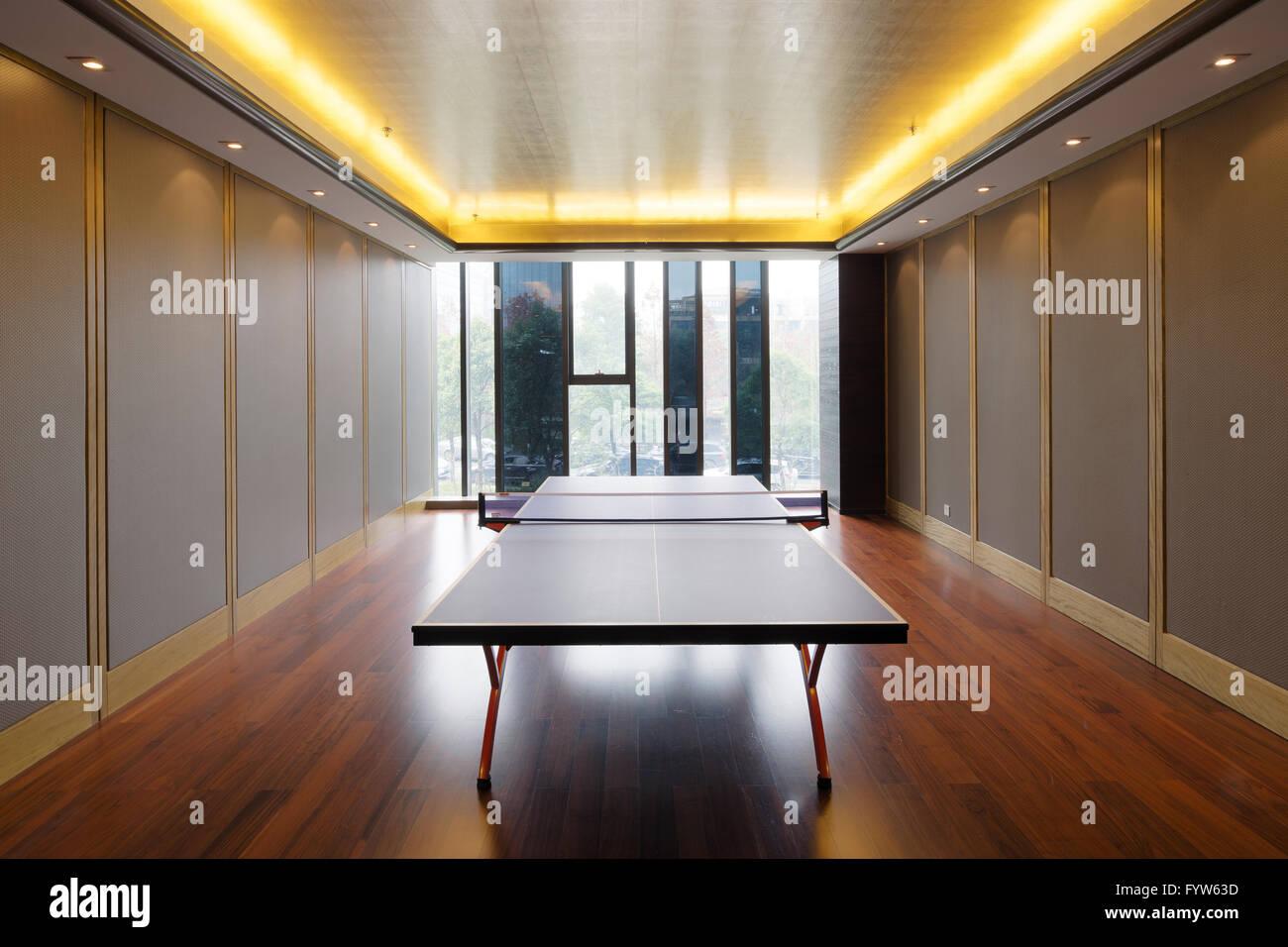 interior of table tennis room Stock Photo 103201153 Alamy