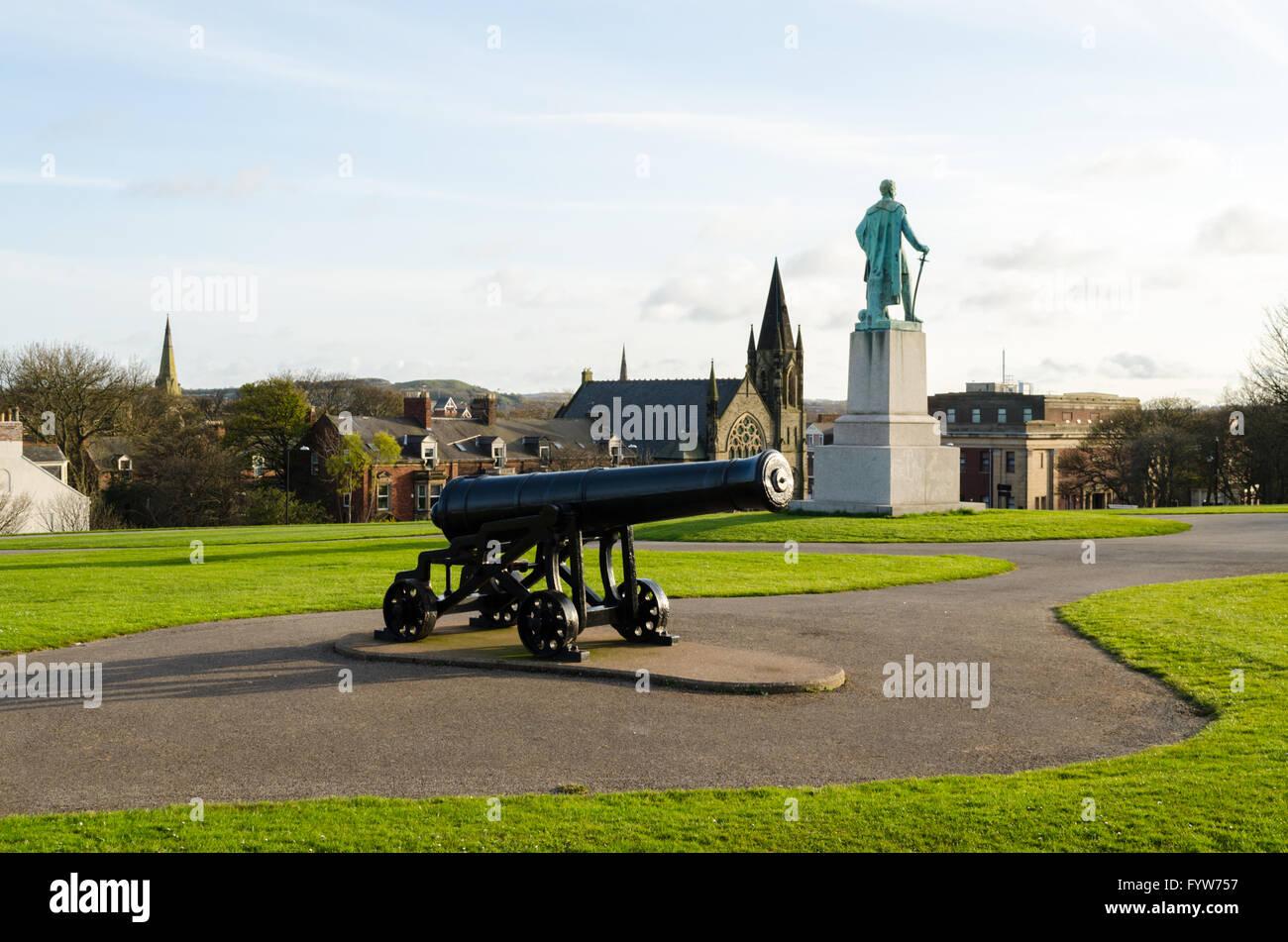 Sebastopol Replica Cannon, located in Mowbray Park, Sunderland, Tyne & Wear - Stock Image