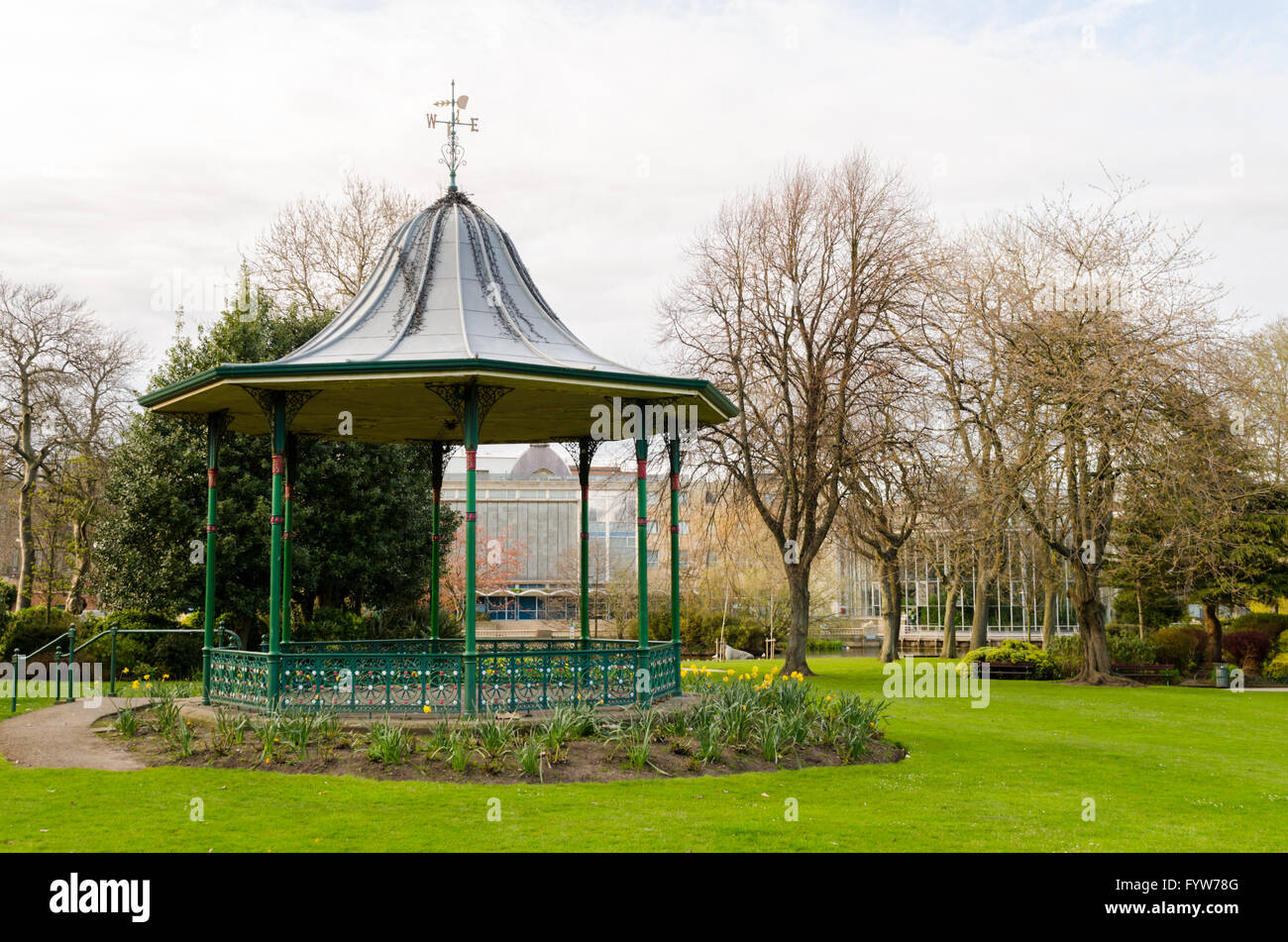Victorian Bandstand, located in Mowbray Park, Sunderland, Tyne & Wear - Stock Image