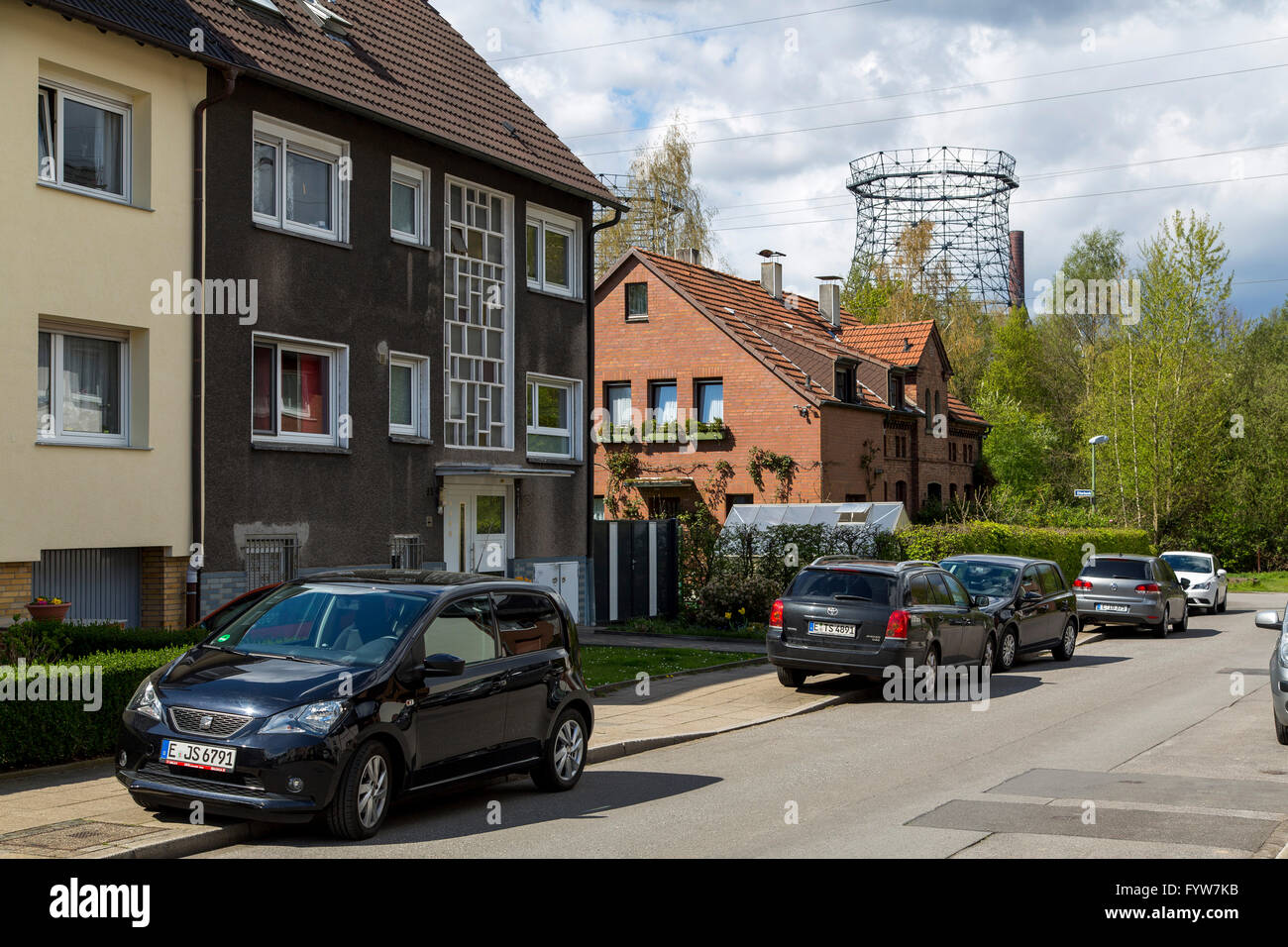 Former miners settlement near the Zollverein coking plant, in Essen Germany, - Stock Image
