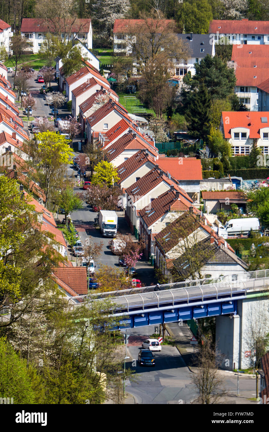 Allotment biting, at the Kraspothstraße in Essen Katerberg, workers and mining settlement, - Stock Image