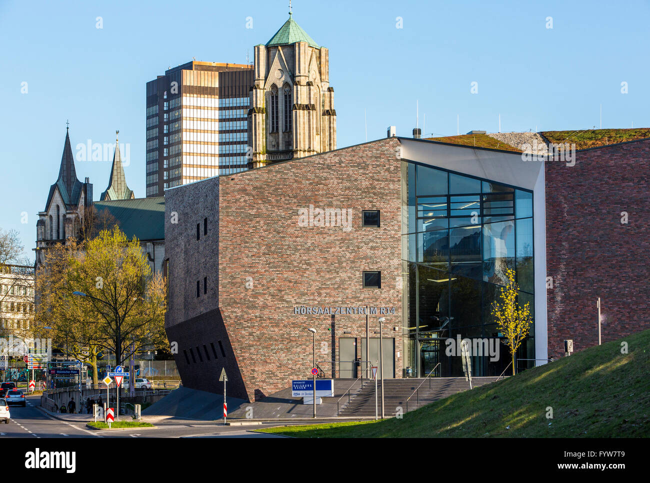 University of Essen, Campus, administrative buildings, audimax, lecture hall center, - Stock Image