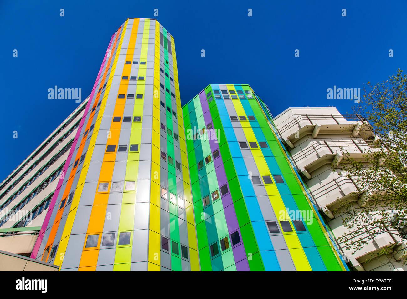 University of Essen, Campus, administrative buildings, - Stock Image