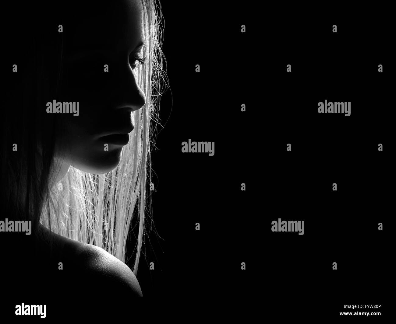 sad female - Stock Image