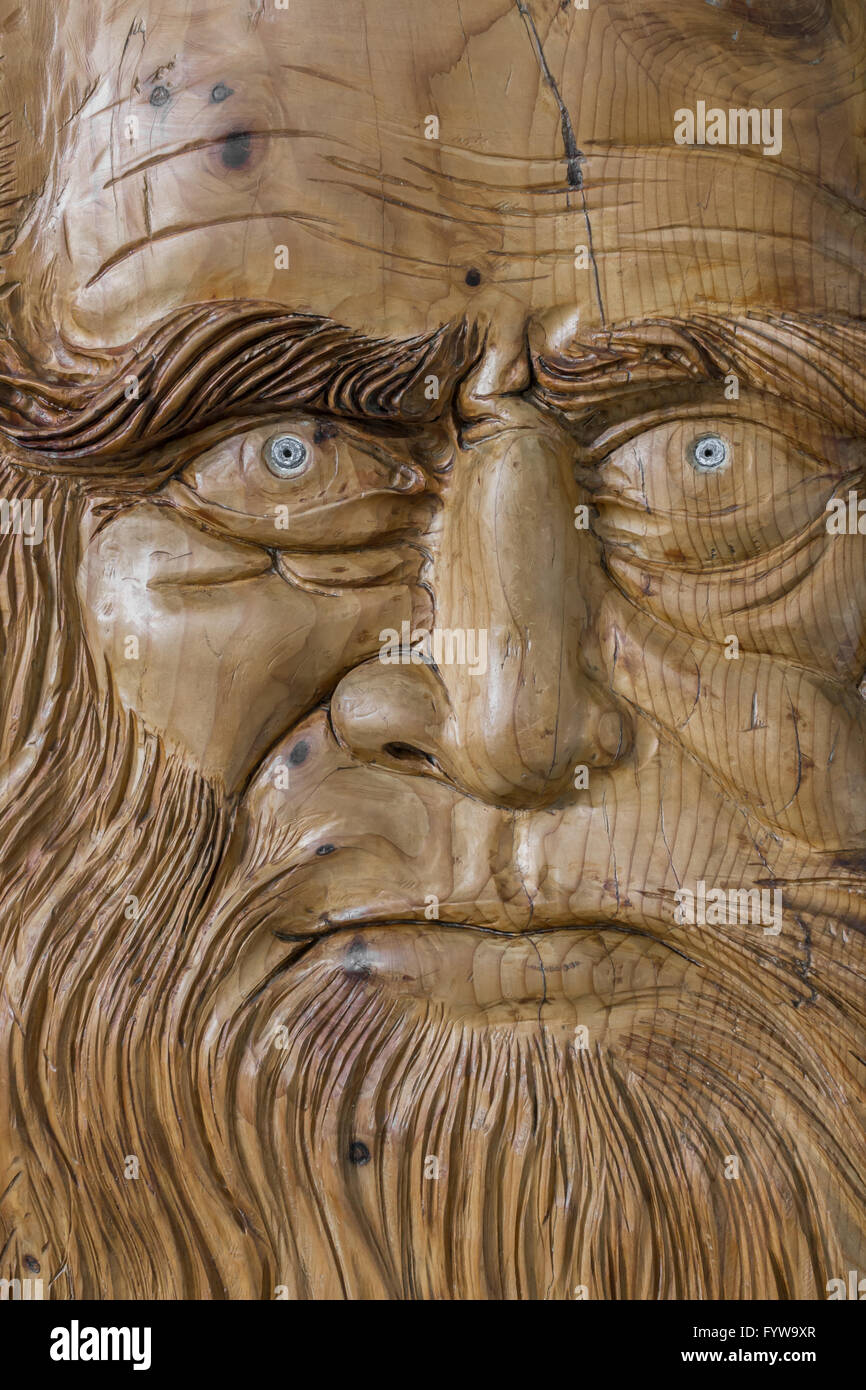 Carving in wood Stock Photo