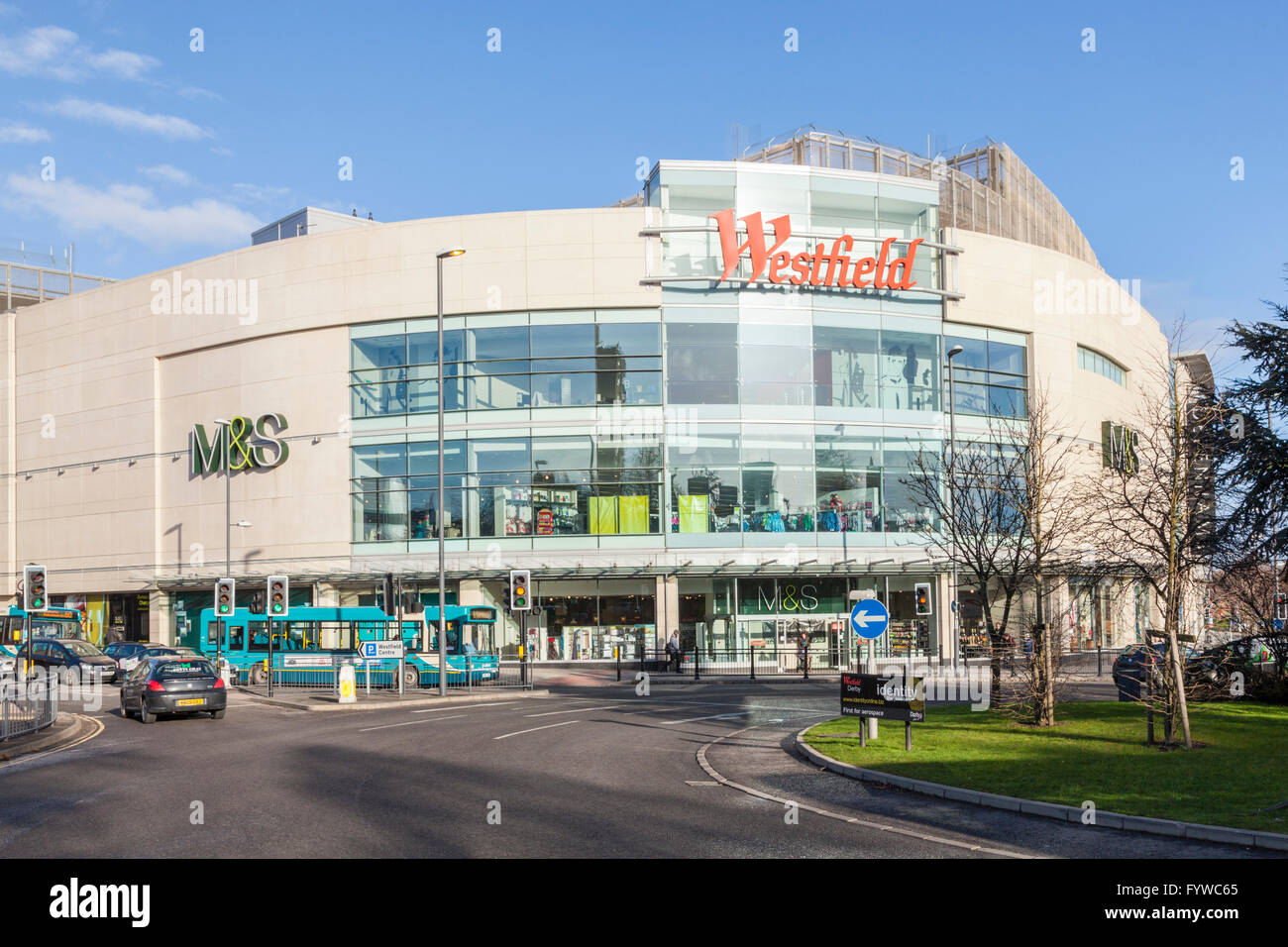 The Westfield shopping centre in Derby city centre, England, UK - Stock Image