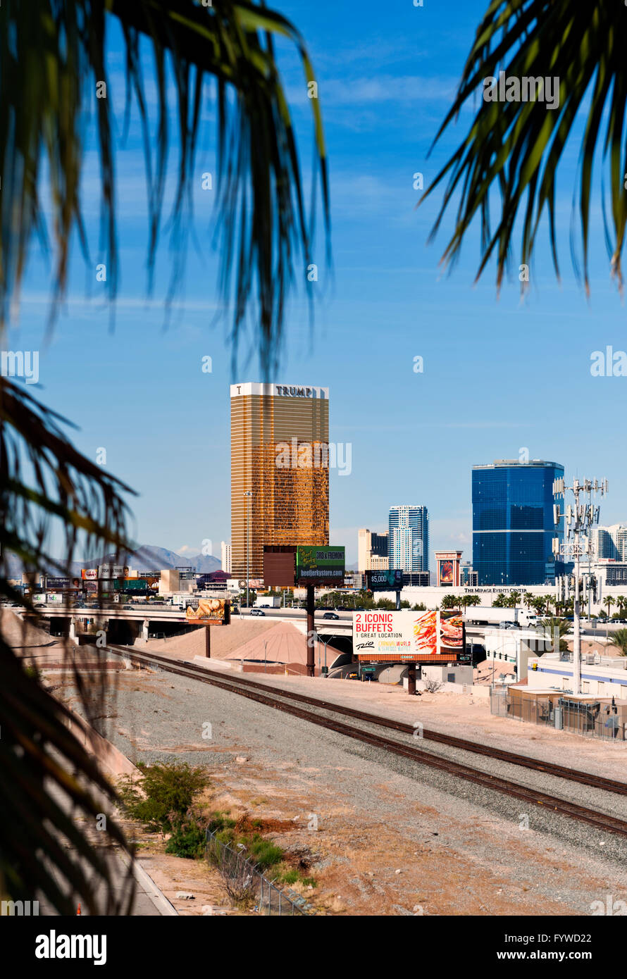 Trump Tower In Las Vegas, Nevada Stock Photo